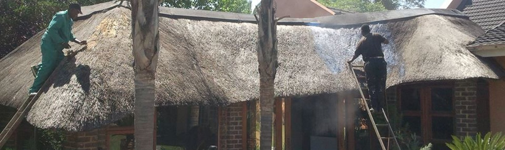 Roof treated with Thatch Marshal 8000, year later same roof had a 2 liter  petrol fire inside